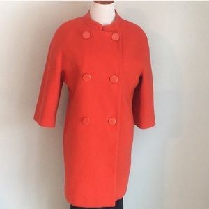 Isaac Mizrahi Vintage Orange Coat